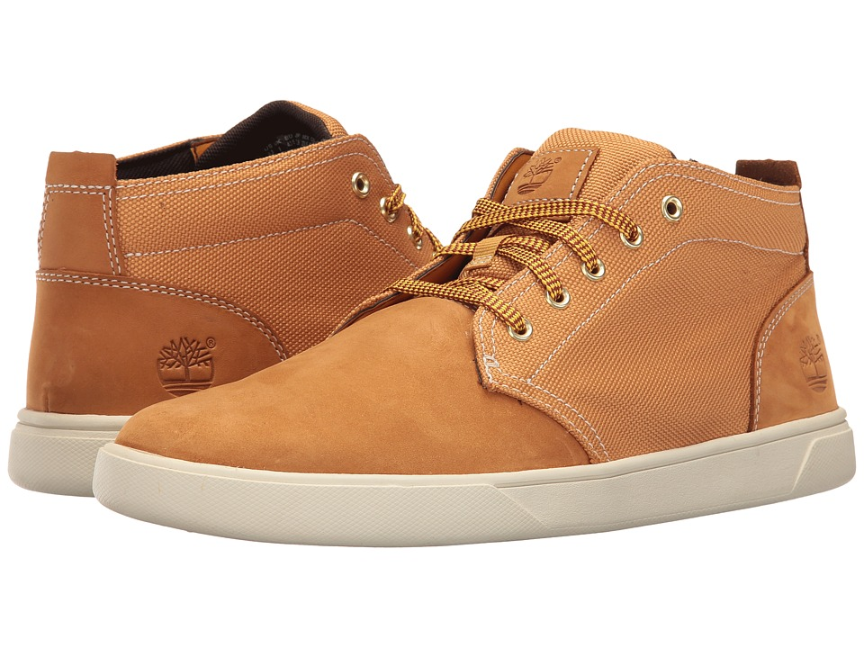 Timberland - Groveton Leather and Fabric Chukka (Wheat Nubuck/Canvas) Men's Shoes
