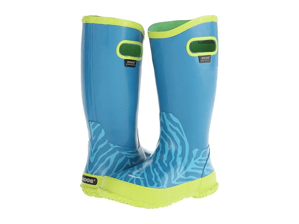 Bogs Kids - Rain Boot Zebra (Toddler/Little Kid/Big Kid) (Aqua Multi) Girls Shoes