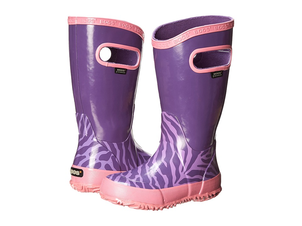 Bogs Kids - Rain Boot Zebra (Toddler/Little Kid/Big Kid) (Purple Multi 2) Girls Shoes