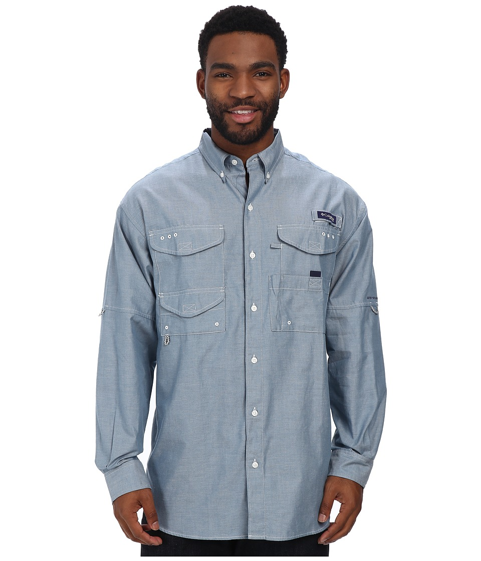 Columbia - Super Bonehead Classic Long Sleeve Shirt (Blue Heron Oxford) Men's Long Sleeve Button Up