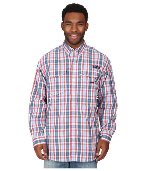 Columbia - Super Bonehead Classic Long Sleeve Shirt (Sunset Red Plaid) Men