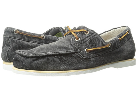 Timberland - Timberland Icon Classic 2-Eye Denim (Black Denim) Men's Shoes