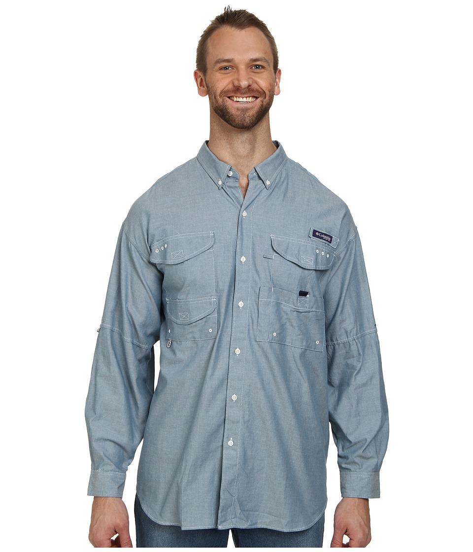 Columbia - Big Tall Super Bonehead Classic Long Sleeve Shirt (Blue Heron Oxford) Men