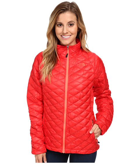 The North Face - ThermoBall Full Zip Jacket (Tomato Red) Women's Coat