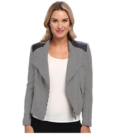 Calvin Klein - Houndstooth Flyaway Jacket (Houndstooth) Women's Jacket