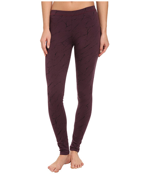 Alternative - Printed Skinny Legging (Eco True Eggplant Mineral Lines) Women's Casual Pants