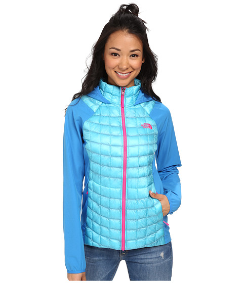 The North Face - ThermoBall Hybrid Hoodie (Fortuna Blue/Clear Lake Blue) Women's Coat