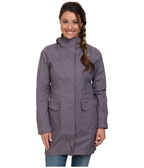 The North Face - Quiana Rain Jacket (Coastal Grey) Women's Jacket