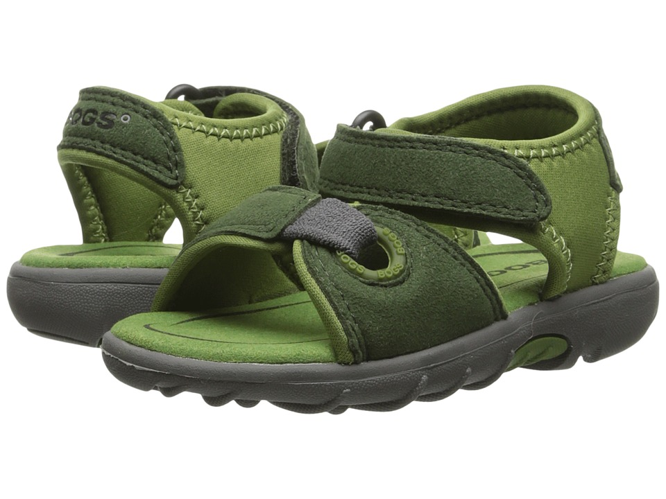 Bogs Kids - Yukon (Toddler) (Green Multi) Boys Shoes