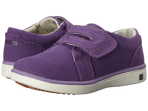 Bogs Kids - Malibu Canvas Strap Shoe (Toddler) (Grape) Girls Shoes