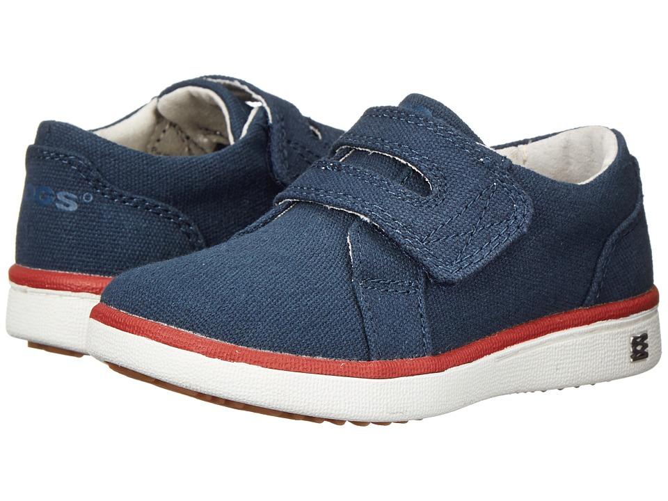 Bogs Kids - Malibu Canvas Strap Shoe (Toddler) (Navy) Boys Shoes