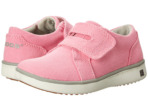Bogs Kids - Malibu Canvas Strap Shoe (Toddler) (Bubble Gum Pink) Girls Shoes
