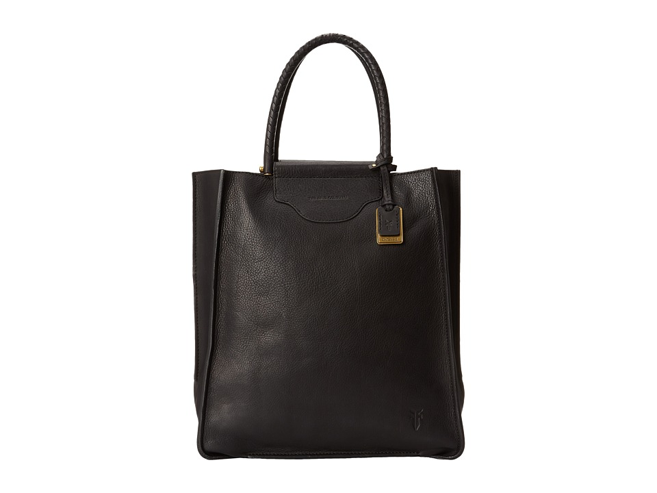 Frye - Bianca Tote (Black Soft Pebbled Full Grain) Tote Handbags