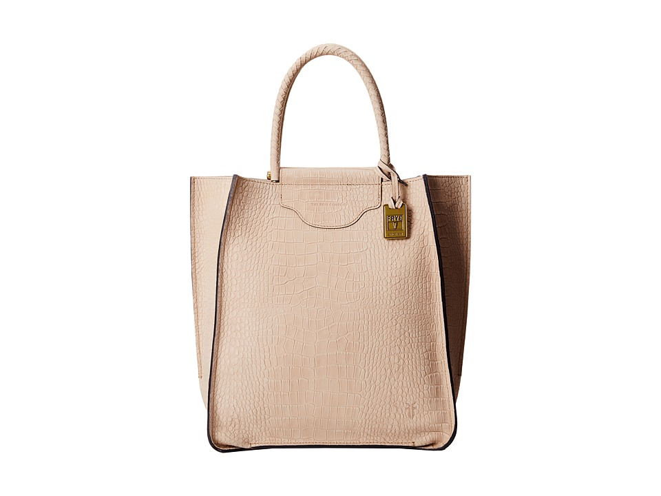 Frye - Bianca Tote (Beige Embossed Full Grain) Tote Handbags