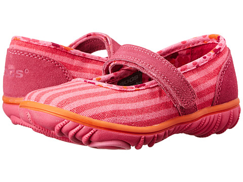 Bogs Kids - Hop Scotch Mary Jane Stripe (Toddler) (Pink Multi) Girls Shoes