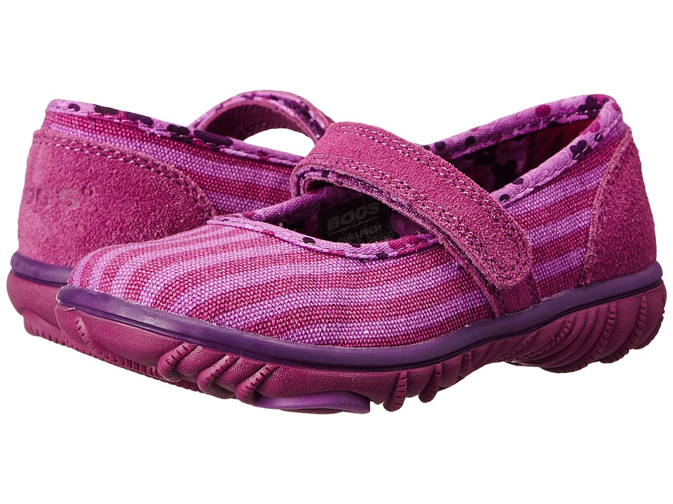 Bogs Kids - Hop Scotch Mary Jane Stripe (Toddler) (Purple Multi) Girls Shoes