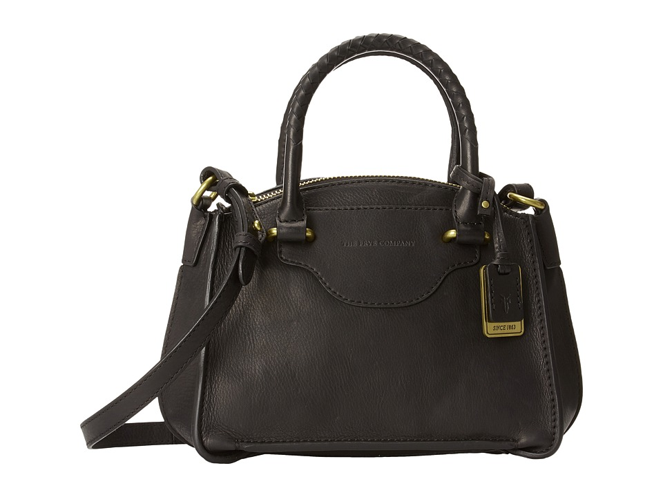 Frye - Bianca Small Satchel (Black Soft Pebbled Full Grain) Satchel Handbags