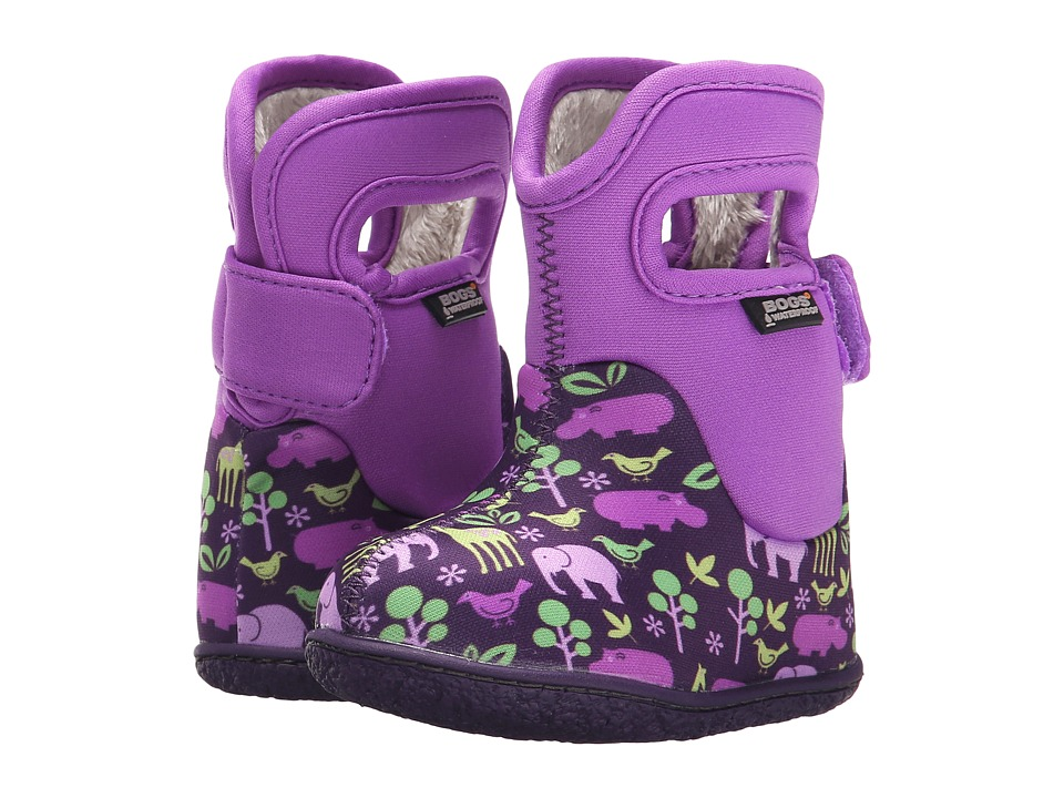 Bogs Kids - Classic Animals (Toddler) (Purple Multi) Girls Shoes