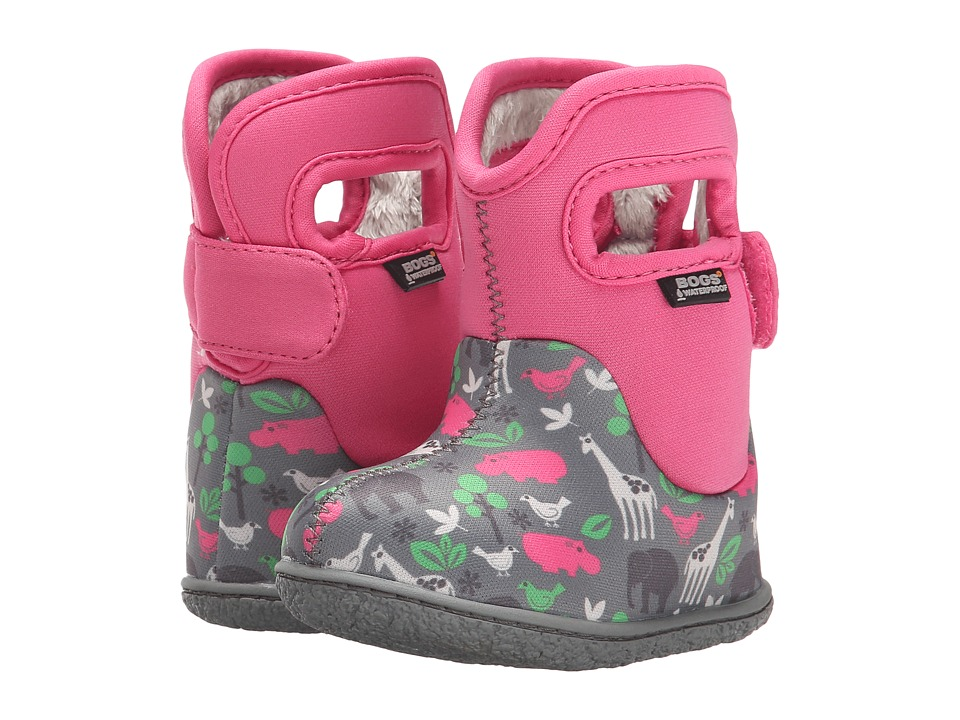 Bogs Kids - Classic Animals (Toddler) (Pink Multi) Girls Shoes