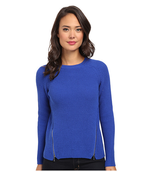Calvin Klein - Crew Neck w/ Side Zips (Celestial) Women's Sweater