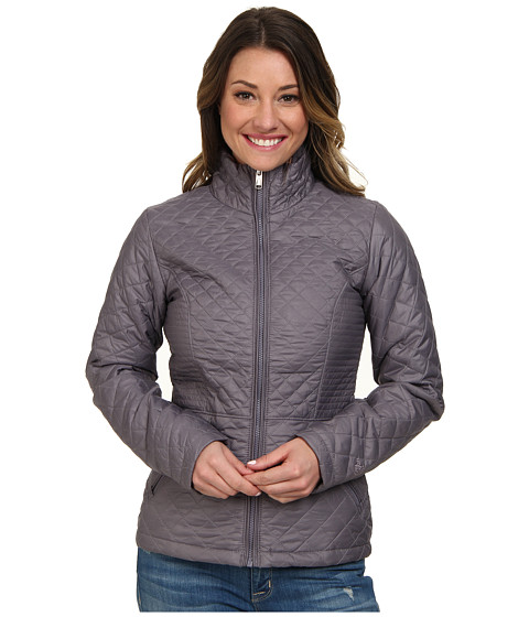 The North Face - Insulated Luna Jacket (Coastal Grey) Women's Coat