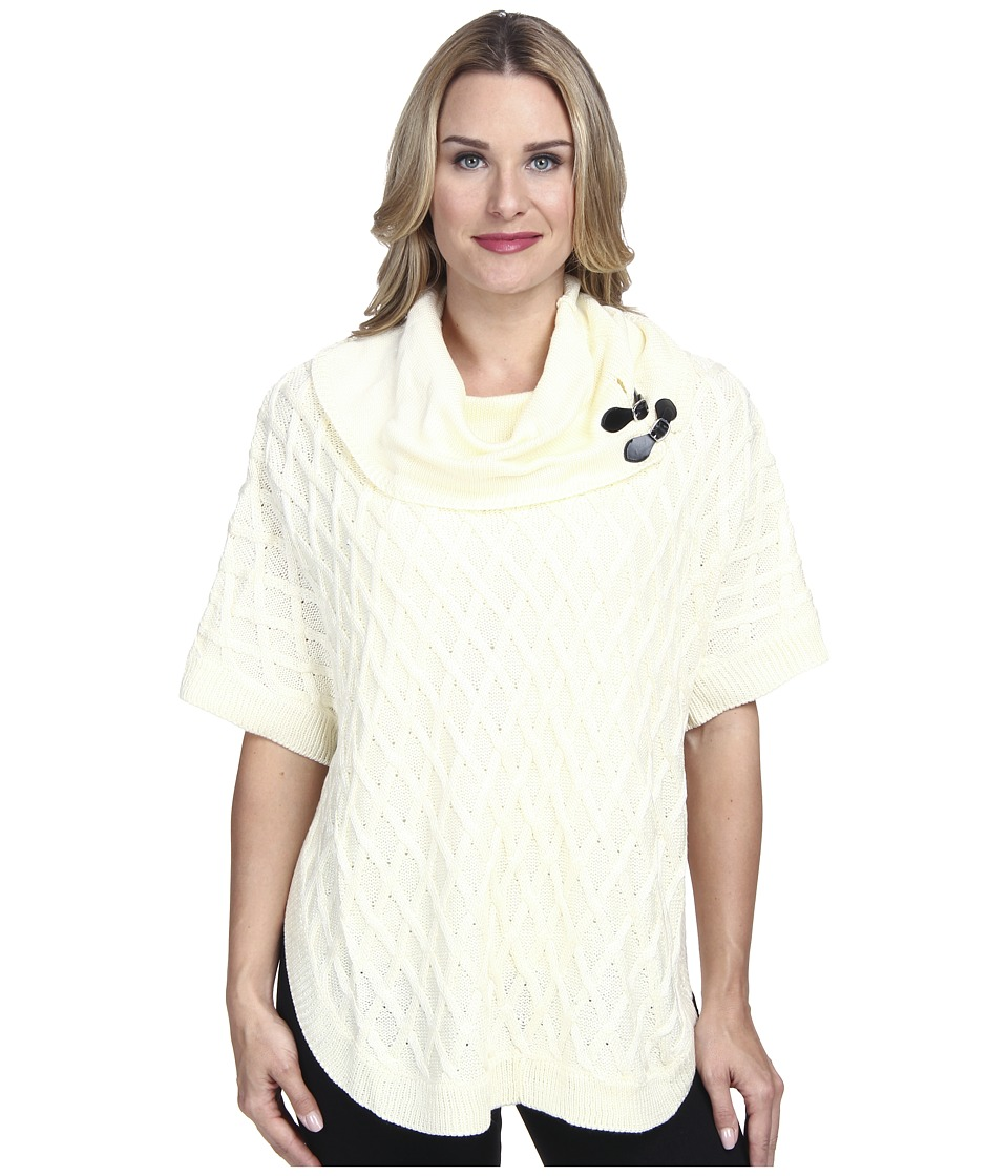 Calvin Klein - Cable Sweater Cape (Birch) Women's Sweater
