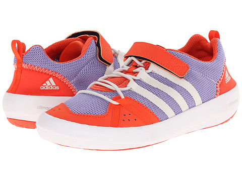 adidas Outdoor Kids - Climacool Boat CF (Little Kid/Big Kid) (Light Purple/Chalk White/Semi Solar Red) Boys Shoes