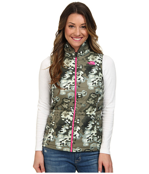 The North Face - Addyson Insulated Vest (Burnt Olive Green Oak Camo) Women