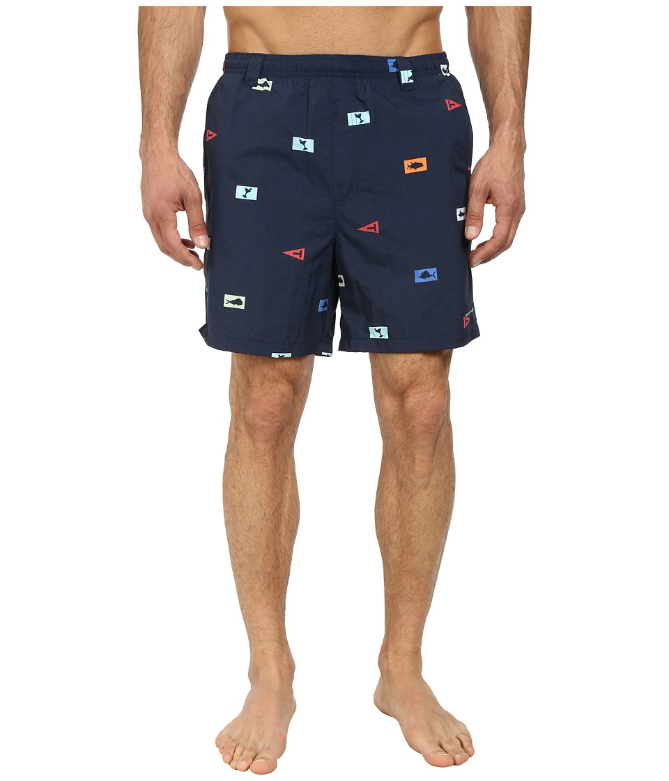 Columbia - Backcast II Printed Trunk (Collegiate Navy Offshore Flags) Men's Shorts