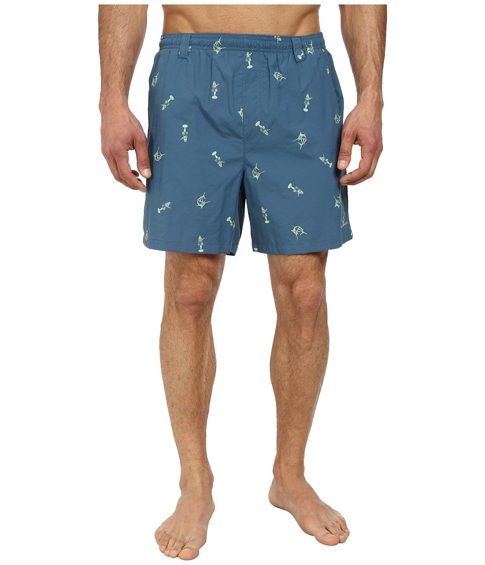 Columbia - Backcast II Printed Trunk (Blue Heron Hula Girl Marlin) Men's Shorts