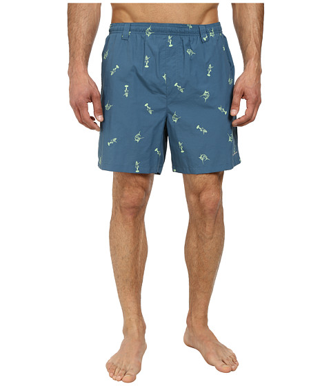 Columbia - Backcast II Printed Trunk (Blue Heron Hula Girl Marlin) Men