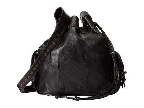 Frye - Harmony Bucket (Black Lambskin Pull Up) Drawstring Handbags