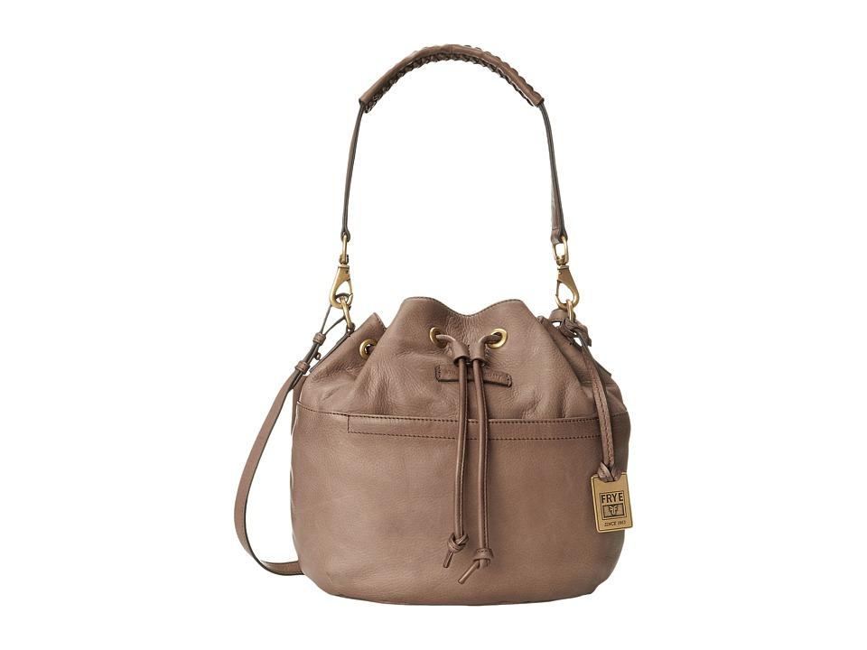 Frye - Jenny Drawstring (Grey Soft Vintage Leather) Drawstring Handbags