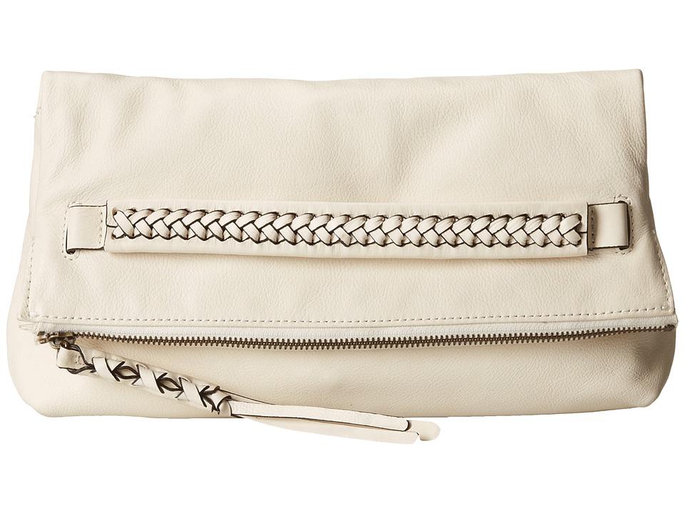 Frye - Jenny Foldover Clutch (Off White Soft Vinage Leather) Clutch Handbags