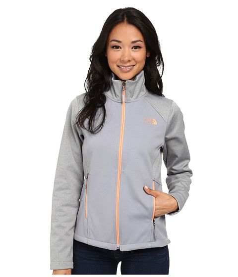The North Face - Canyonwall Jacket (Mid Grey/Mid Grey Heather) Women's Sweatshirt