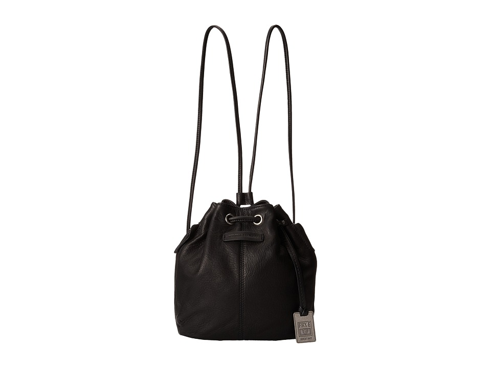 Frye - Jenny Mini Drawstring (Black Soft Vintage Leather) Drawstring Handbags