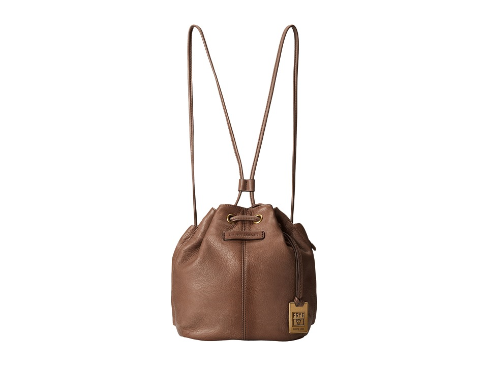 Frye - Jenny Mini Drawstring (Grey Soft Vintage Leather) Drawstring Handbags
