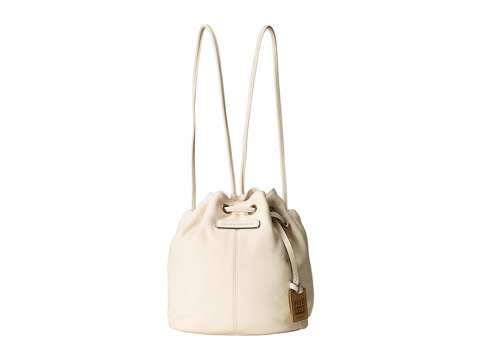 Frye - Jenny Mini Drawstring (Off White Soft Vintage Leather) Drawstring Handbags