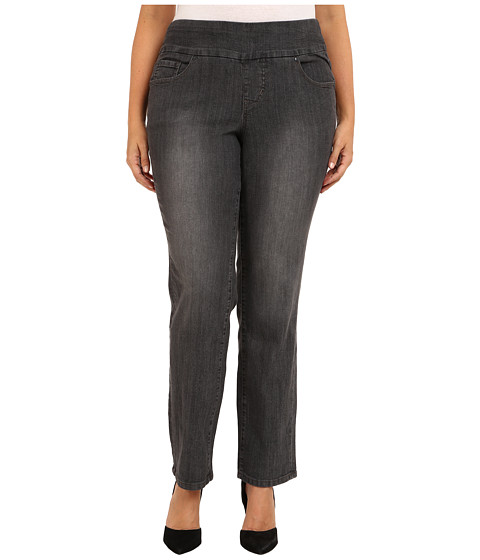 Jag Jeans Plus Size - Plus Size Peri Pull-On Straight in Thunder Grey (Thunder Grey) Women's Jeans