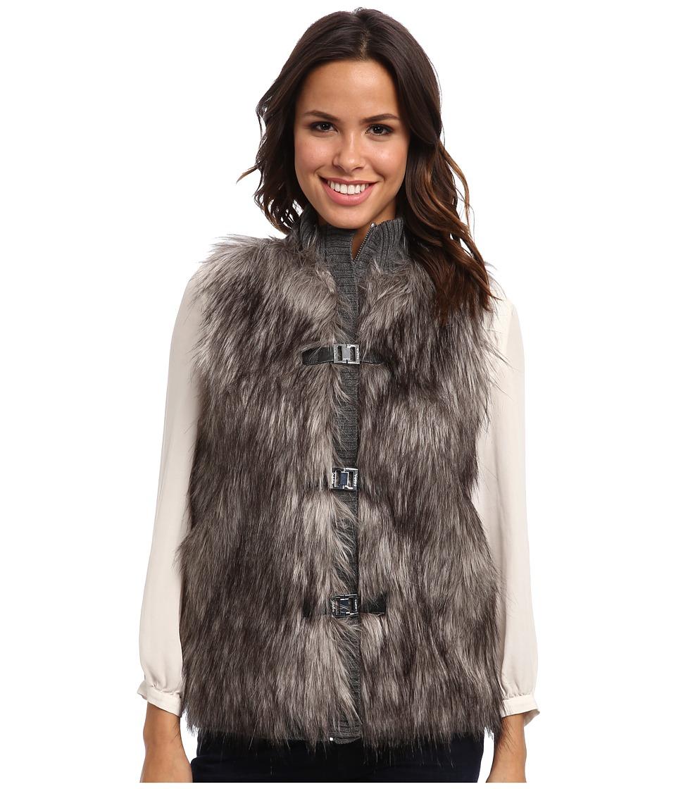 Calvin Klein - Faux Fur Sweater Vest (Heather Charcoal) Women