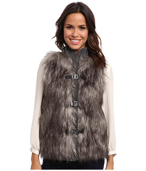 Calvin Klein - Faux Fur Sweater Vest (Heather Charcoal) Women's Vest