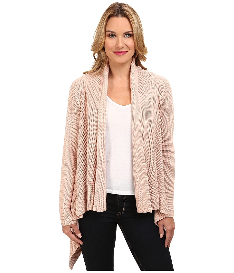 Calvin Klein - Ribbed Sweater Jacket (Blush) Women's Sweater