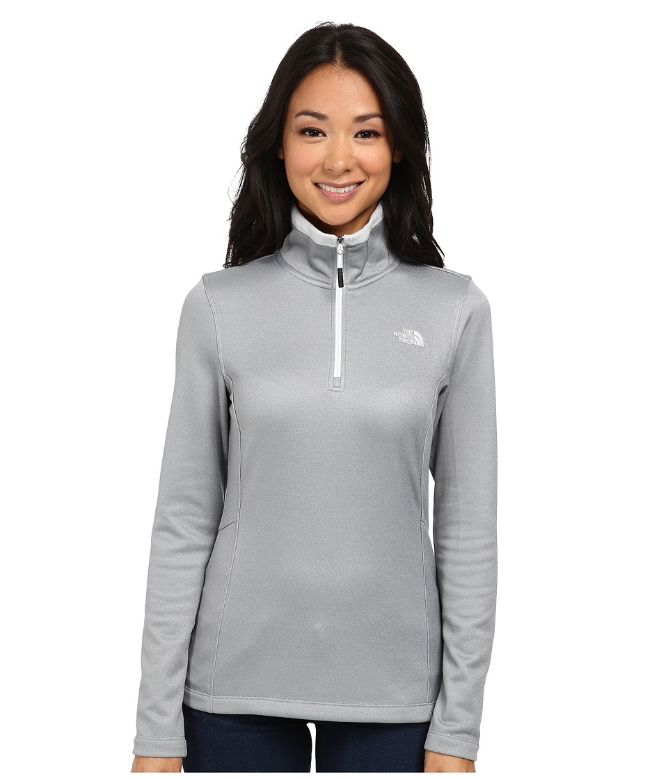 The North Face - Rosette 1/4 Zip (High Rise Grey Heather) Women's Sweatshirt
