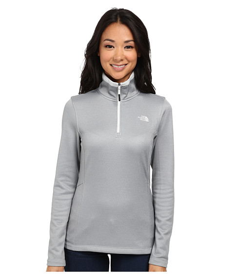 The North Face - Rosette 1/4 Zip (High Rise Grey Heather) Women