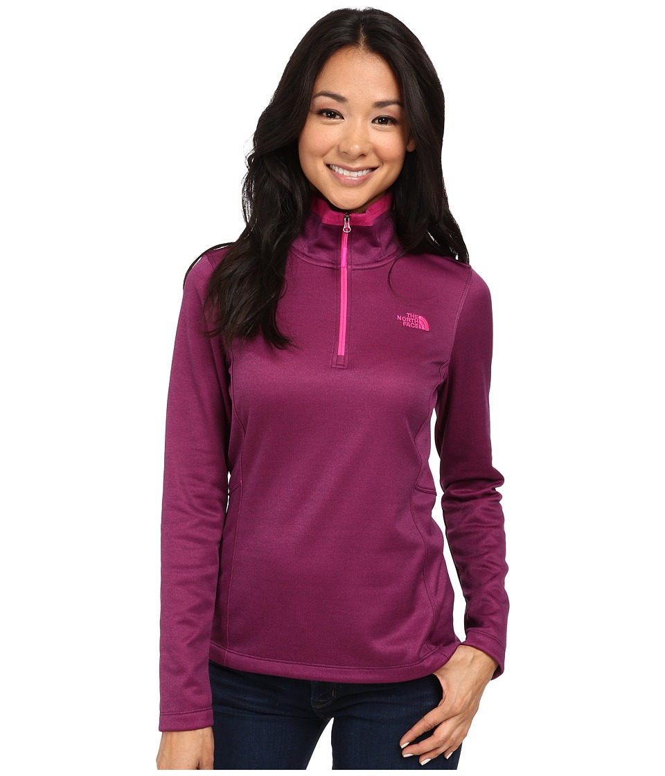The North Face - Rosette 1/4 Zip (Black Currant Purple Heather) Women's Sweatshirt