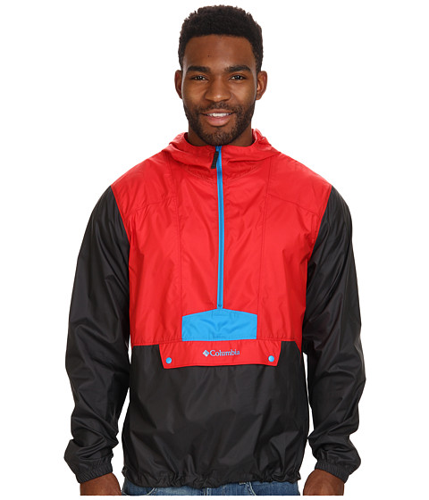 Columbia - Flashback Windbreaker Pullover (Bright Red/Shark/Compass Blue Pop) Men