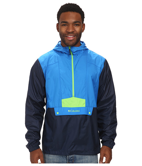 Columbia - Flashback Windbreaker Pullover (Hyper Blue/Collegiate Navy/Green Mamba Pop) Men