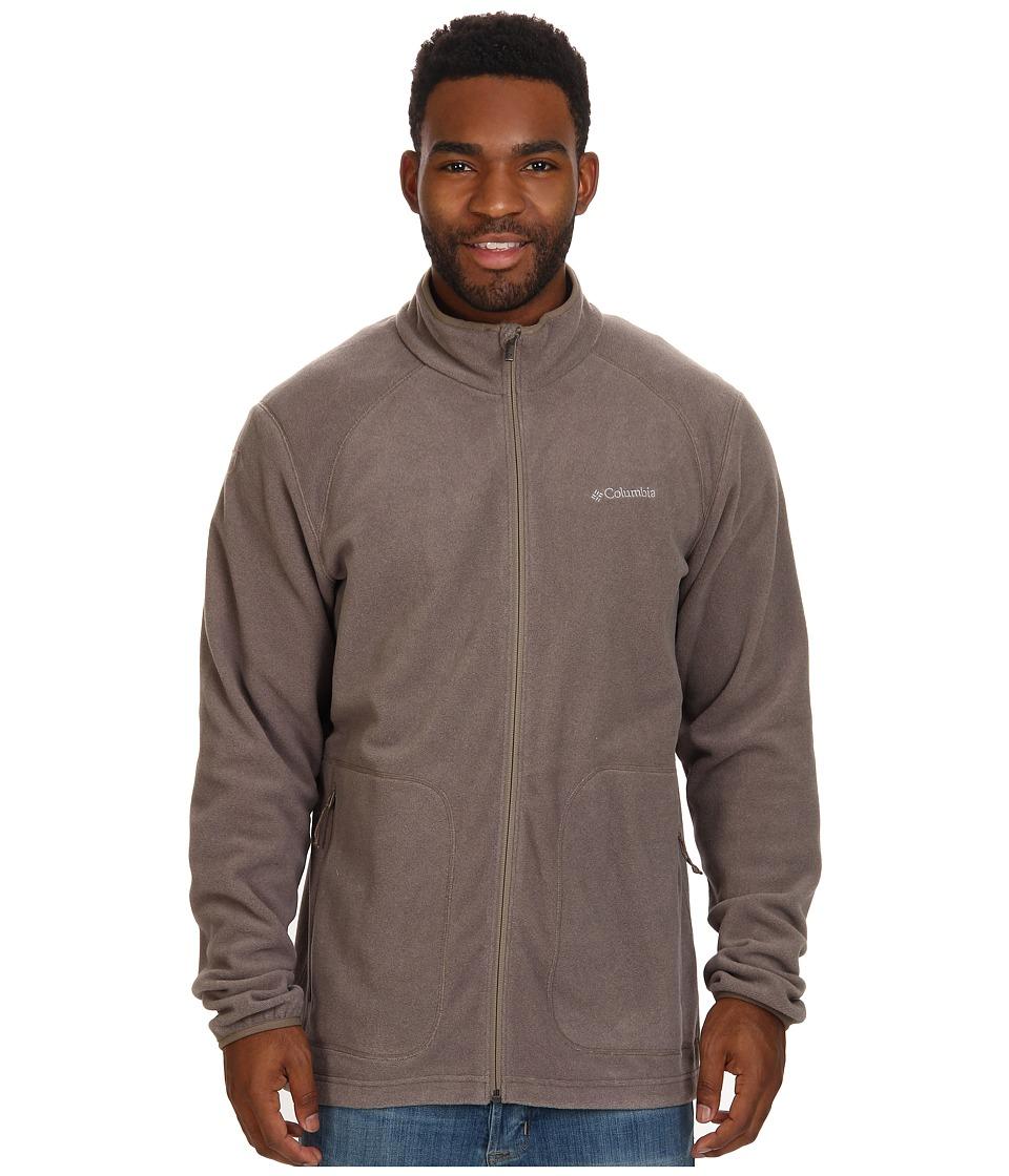 Columbia - Hombre Springs Fleece Jacket (Wet Sand/Tusk Stripe/Wet Sand Binding & Zips) Men's Coat