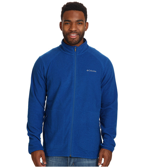Columbia - Hombre Springs Fleece Jacket (Marine Blue/Hyper Blue Stripe/Marine Blue Binding & Zips) Men
