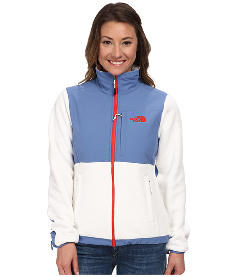 The North Face - Denali Jacket (R TNF White/Vintage Blue) Women's Coat
